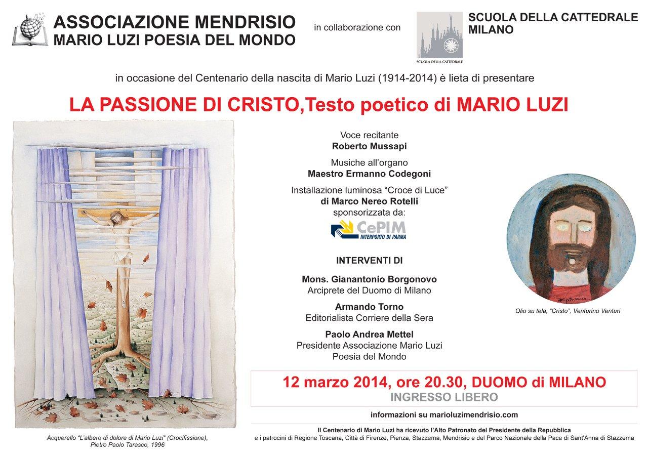 La Passione di Cristo, Testo poetico di Mario Luzi