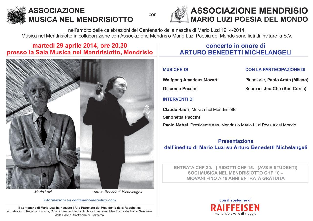 Concerto in onore di Arturo Benedetti Michelangeli